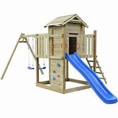 aire de jeux avec toboggan vidaxl aire de jeux avec 233 chelle toboggan et balan 231 oires en bois balan 231 oire portique multi