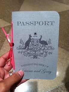my diy wedding shower invite passport weddingbee