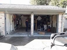 2 Garage Doors Vs 1 garage door convertion before