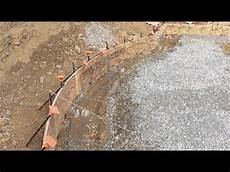 creating radius or curved concrete slab youtube