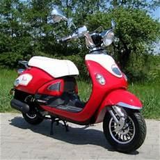 Retro Roller Gebraucht - motorroller 50ccm retro roller mit 45 km h flash rot
