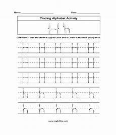 letter h trace worksheets 24509 alphabet worksheets tracing alphabet worksheets