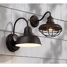 urban barn 11 1 4 high bronze indoor outdoor wall light goodglance