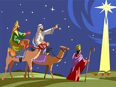 three wise men follow star of bethlehem vector image