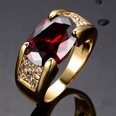 noble ruby engagement rings men s s yellow gold filled band size 7 12 ebay