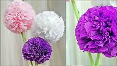 blumen aus servietten basteln toilet paper tissue flower blumen mit papier