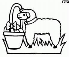 ausmalbilder ein lamm und ein korb eier f 252 r ostern zum