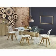 table et chaise transparente chaise scandinave transparente avec pieds en bois atout