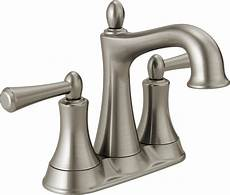 delta kitchen faucets canada delta rila 2 handle centerset lavatory faucet in brushed nickel the home depot canada