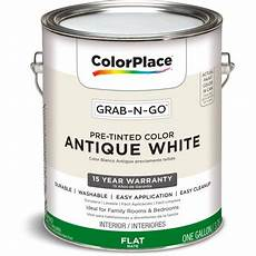 colorplace pre mixed ready to use interior paint white flat finish 1 gallon