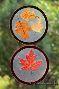 Herbst Basteln Kinder Fenster - bastelideen mit bastelvorlagen fensterbilder basteln