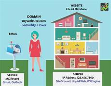 what is the difference between domain and website hosting design tlc