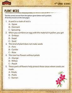 science worksheets on plants for grade 4 13724 plant mcqs free 4th grade science worksheet school of dragons