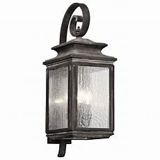kichler lighting wiscombe park weathered zinc outdoor wall light 49503wzc destination lighting