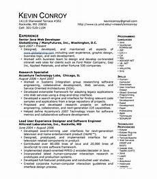 lebenslauf vorlage site senior java developer resume sle