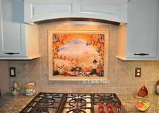 Kitchen Tile Murals Tile Backsplashes Italian Tile Murals Tuscany Backsplash Tiles
