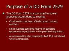 ppt small business training dd form 2579 powerpoint