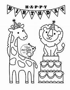 Ausmalbilder Geburtstag Papa Happy Birthday Coloring Pages At Getcolorings