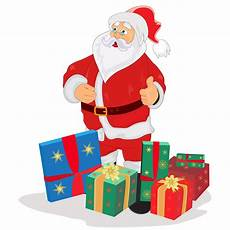 santa claus gifts vector custom designed illustrations