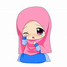Chibi Muslimah 1 By Taj92 On Deviantart Kartun Animasi
