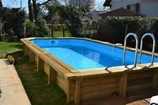 piscine bois octogonale semi enterrée piscines bois arts et voyages