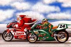 motorcycle santa and elf biker christmas card for the holidays motorcycle christmas