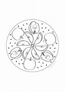 ausmalbilder apfel mandala