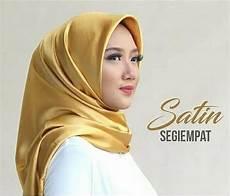 Jual Jilbab Kerudung Segi Empat Satin Velvet Gold Di Lapak