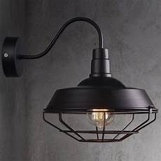 big wall sconce light l cage vintage iron outdoor barn gooseneck lighting ebay