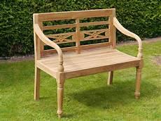 Gartenbank 2 Sitzer Holz - gartenbank bank 2 sitzer gartenm 246 bel aus massiven teak