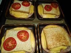 toast sandwich mit k 228 se und schinken aus dem ofen
