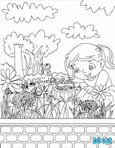 Easter Egg Hunt Coloring Sheets Easter Egg Hunt Coloring Pages At Getcolorings Free