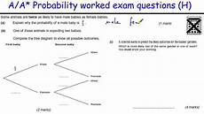 probability worksheet igcse 5803 how to do probability a a gcse maths revision higher level worked tree diagrams