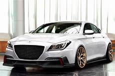 supercharged 2015 hyundai genesis sedan head to sema