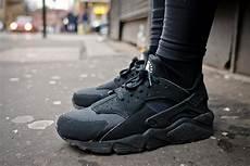 nike air huarache black the sole supplier