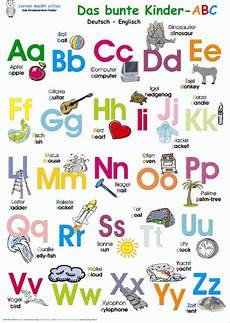 The Abc German Poster In Kinderpostershop