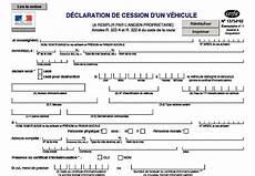 Déclaration De Cession De Vehicule Dimension Garage Declaration De Cession De Vehicule Cerfa