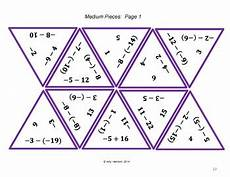 subtracting integers middle school math puzzle 2 by harrison