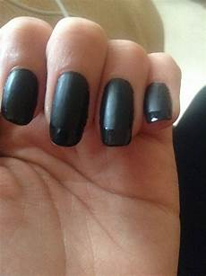 matte black french tip nail art black french tips nails