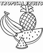 Watermelon Banana And Pineapple On Free Coloring Books Pages