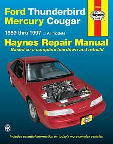 car repair manuals download 1985 ford thunderbird engine control cougar haynes manuals