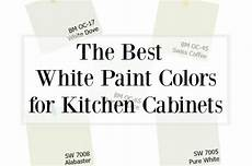 choosing the best white paint color for your kitchen cabinets