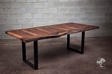 live edge black walnut dining table bois design