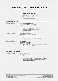 basic resume exles for part time jobs world of reference