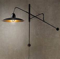 lighting 1940s architectural boom sconce