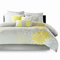 beautiful soft cotton contemporary yellow white grey chic flower comforter ebay