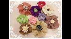 fiore con la a fiori senza cucire in juta e feltro con tirante