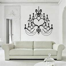 wall decal chandelier l light decoration curl candle bedroom m990 ebay