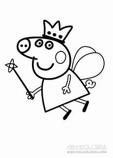 maestra de infantil peppa pig dibujos para colorear