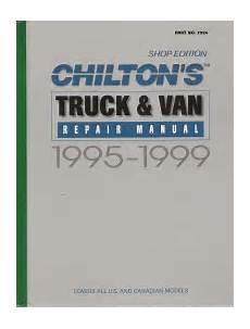 what is the best auto repair manual 1999 gmc suburban 1500 interior lighting 1995 1999 chilton s truck van repair manual shop edition
